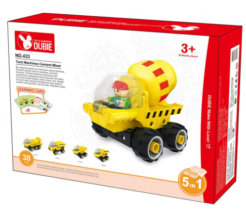 "dubie РД02.201 constructor 5-in-1 ""tech machines cement mixer"" (38 el.)"