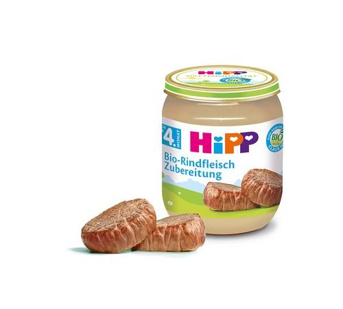 hipp 6010 Пюре Говядина bio  125 gr. (4m+)
