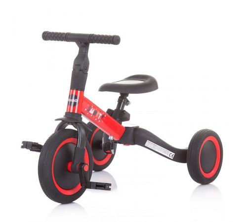 chipolino Трёхколесный беговел smarty 2-в-1 trksm0201re красный