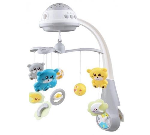 baby mix fs-35604 grey Карусель Музыкальная с проектором