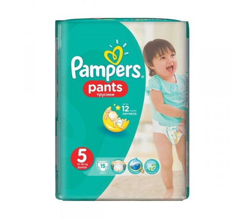 pampers pants 5 (12-18 кг.) 15 шт.