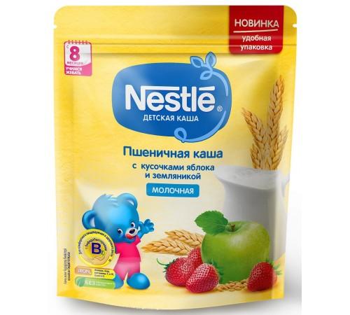 Детское питание в Молдове nestle Каша молочная пшеничная с кусочками яблока и земляникой 220 гр. ( 8 м+)12343024