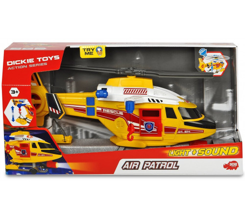 dickie 3308373 elicopter de salvare cu lumină și sunet