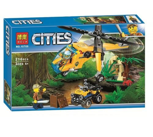 """Детскиймагазин в Кишиневе в Молдове bela РД02.149 Конструктор """"cities"""" Грузовой вертолёт исследователей джунглей (216 дет.)"""