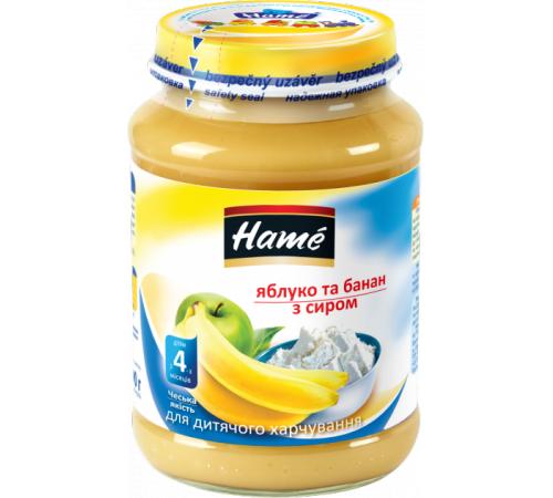 hame Пюре яблоко и банан с творогом 190gr. (4m+)