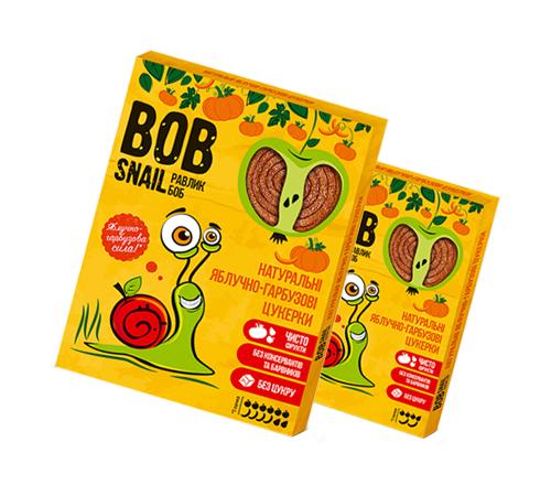 Детское питание в Молдове Натуральные Яблочно-Тыквенные Конфеты ТМ bob snail (Улитка БОБ) 60 г