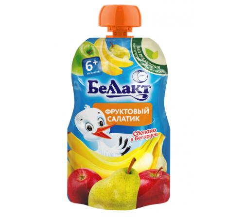 Детское питание в Молдове Беллакт Пюре Фруктовый салатик 90 гр. (6 м. +)