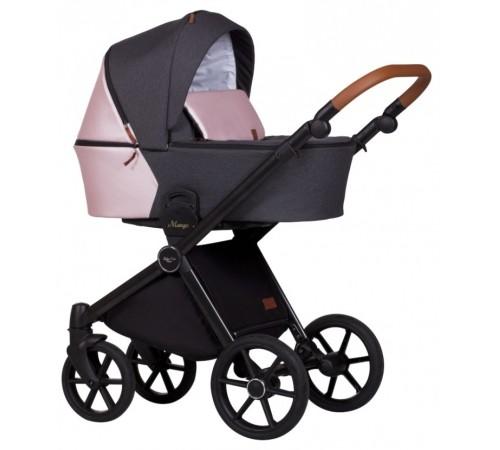 baby merc Коляска 2-в-1 mango m/201 черный/розовый