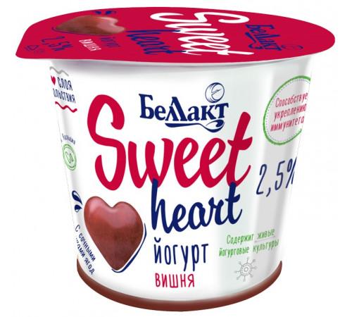 """Беллакт iaurt cu două straturi """"sweet heart"""" cireașă 2,5% (150 gr.)"""