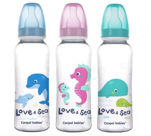 "canpol 59/400 sticluta ""love&sea"" (250 ml.) 1 buc."