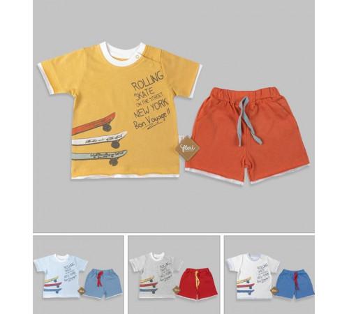 Одежда для малышей в Молдове flexi 216146 Костюм 2 единицы (9-12-18-24 мес.) в асс.