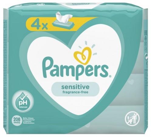 pampers 2931 Şerveţele umede sensitive 208 buc. (4x52)