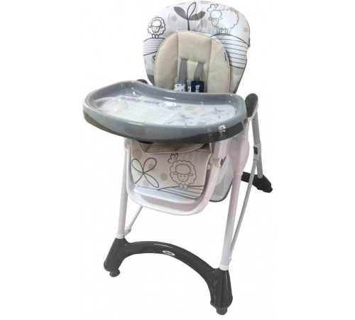 baby mix ur-yq-198-5 Стульчик для кормления (тёмно-серый)