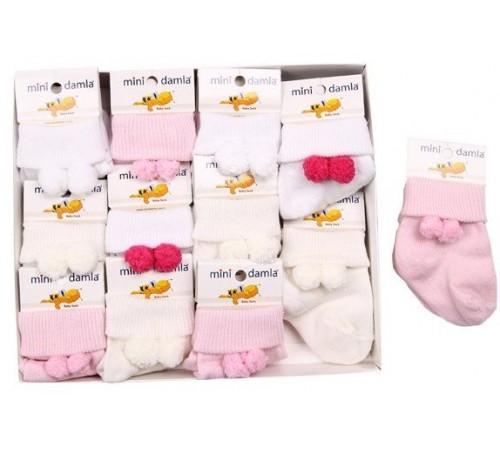 Imbracaminte pentru bebelușii in Moldova mini damla 43727 Șosete cu pompoane în sort.