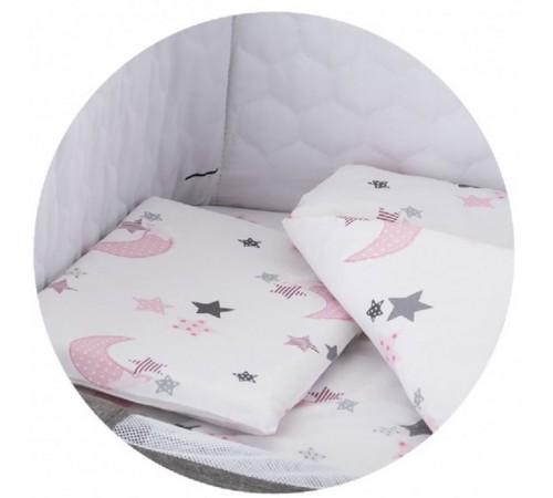 chipolino постельное белье для люльки koscloset05wp розовая луна