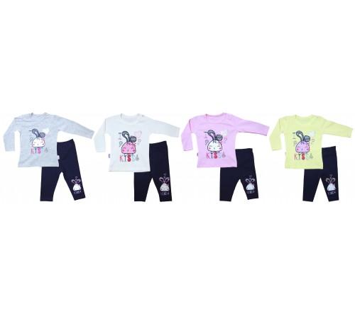 Одежда для малышей в Молдове bebemania 9108 Костюм девочка (2 ед.) в асс.