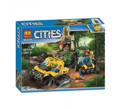 """bela РД02.148 Конструктор """"cities"""" Исследование джунглей (397 дет.)"""