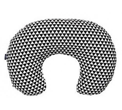 womar zaffiro perna pentru alaptare 140 comfort exclusive alb-negru/triunghiuri