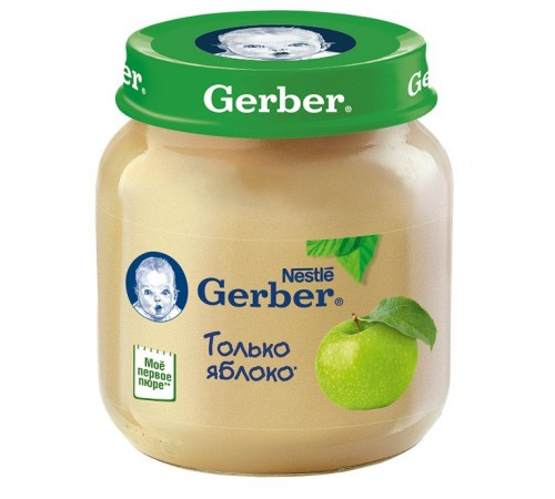 gerber Пюре яблочное 130gr.(4+)