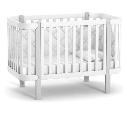 veres 05.3.1.21.17 Детская кроватка ЛД5 Монако (белый/серый)