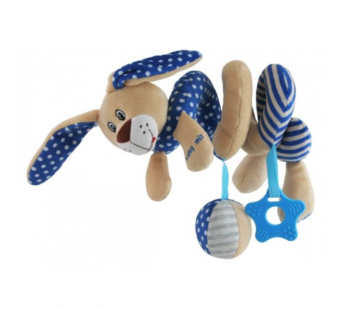 "baby mix stk-17507b Спираль для коляски ""Зайчик"" голубая"