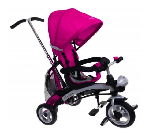 baby mix Трицикл clever kr-x3 3в1 розовый