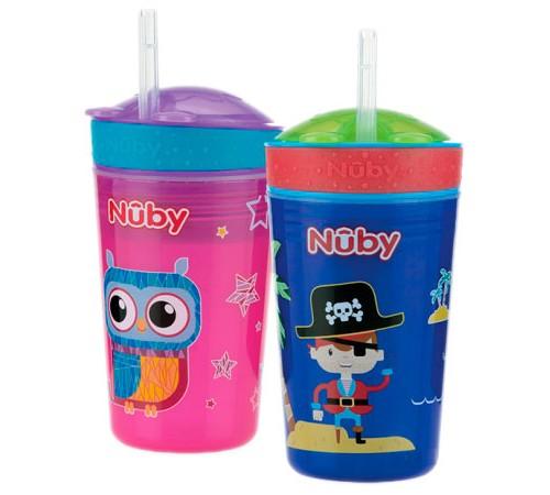 nuby  id10373 Поильник+контейнер для снэков 270мл