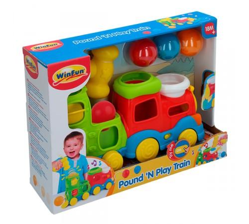 """Детскиймагазин в Кишиневе в Молдове winfun 44725 Музыкальная игрушка-каталка """"Паровозик"""""""