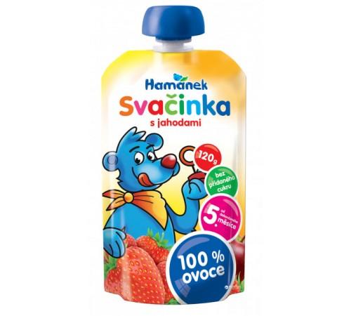 """Детское питание в Молдове hame пюре """"Хаманек"""" яблоко с клубникой 120г"""