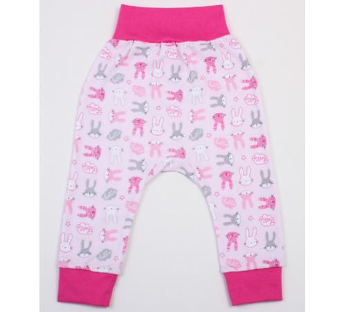Одежда для малышей в Молдове veres 104-2.44.62 Штанишки hello bunny pink (интерлок) р.62