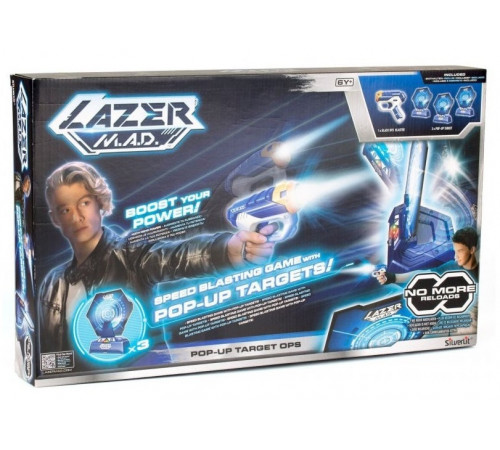 """lazer m.a.d. 86877 Бластер с мишенями """"pop-up target ops"""""""