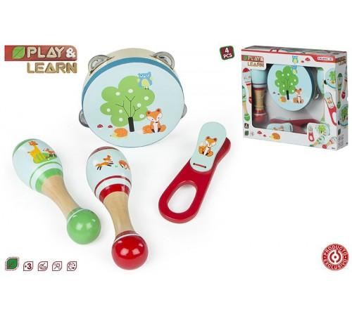 color baby  43626 set de instrumente muzicale din lemn
