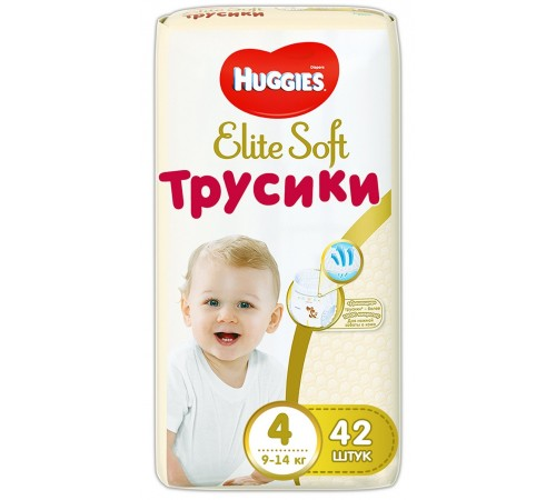 huggies chiloței elite soft 4 (9-14kg.) 42 buc.