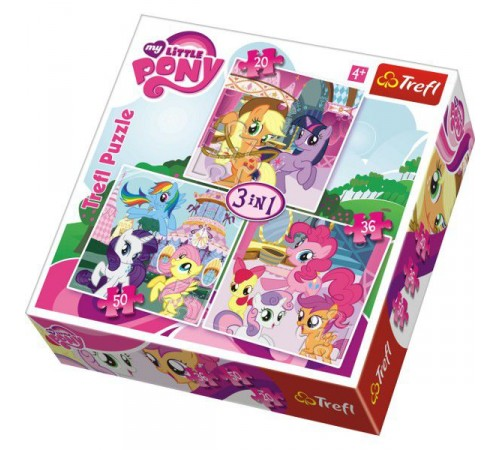 "bs 34190 trefl puzzles-""3in1""-rainbowdash and fluttershy / hasbro, my little pony"
