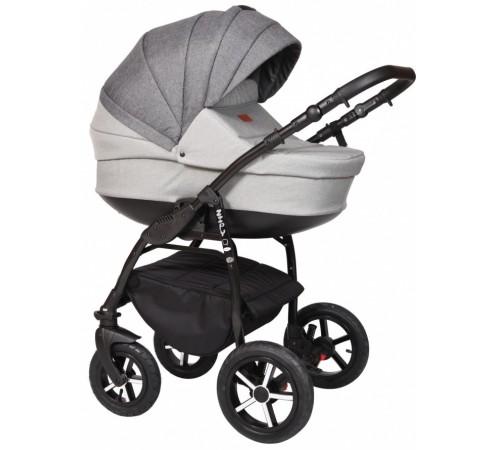 baby merc Коляска 2-в-1 zipy q zq/160b светло-серый