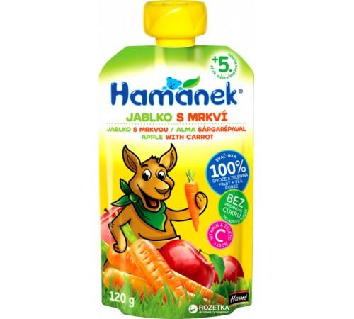 """Детское питание в Молдове hame Пюре """"hamanek"""" Яблоко-Морковь (5 м+) 120 гр."""