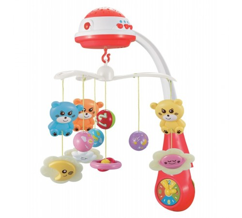 baby mix fs-35604 red Карусель Музыкальная с проектором