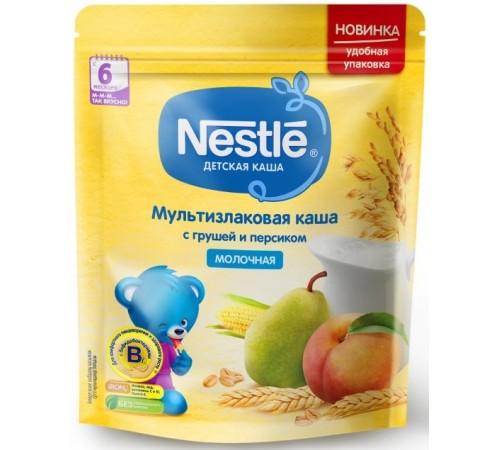 nestle Каша мультизлаковая молочная с грушей и персиком 220 гр. (6 м+) 12343026