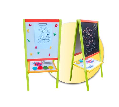 Детскиймагазин в Кишиневе в Молдове 3toysm tk2 Доска для рисования двухсторонняя