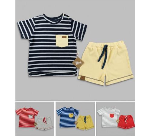 Одежда для малышей в Молдове flexi 216141 Костюм 2 единицы (9-12-18-24 мес.) в асс.