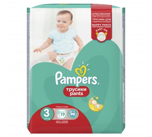 pampers pants 3 (6-11 кг.) 19 шт.