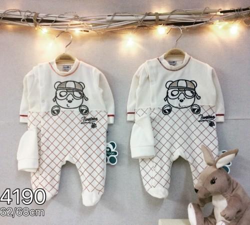 Одежда для малышей в Молдове twetoon baby Комбинезон с шапочкой, велюр 114190