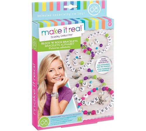 "make it rea! 1205 set de creativitate ""charm bratari -alfabet"""