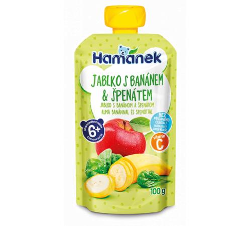 """hame piure """"hamanek"""" mere-banana-spanac (6 m+) 100 gr."""