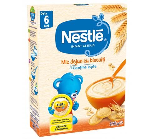 nestle Каша для завтрака с молоком и печеньем (6 +) 250 гр.