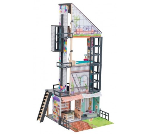 kidkraft 65989 Домик для кукол bianca city life dollhouse
