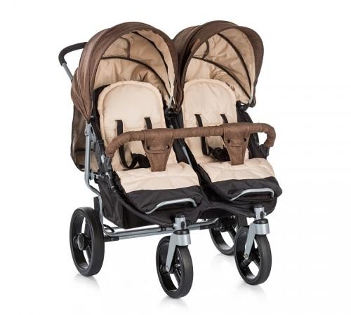 Детские коляски в Молдове chipolino Коляска для двойни twix kbtx01703br коричневая