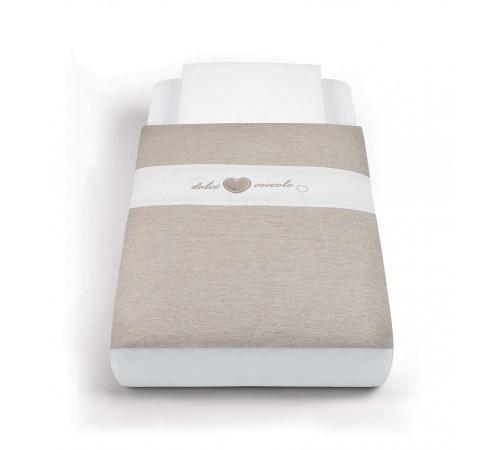 cam set de lenjerie de pat pentru patut cullami 154 bej