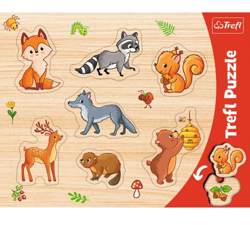 """Jucării pentru Copii - Magazin Online de Jucării ieftine in Chisinau Baby-Boom in Moldova trefl 31307 puzzle din lemn """"locuitorii pădurilor"""""""