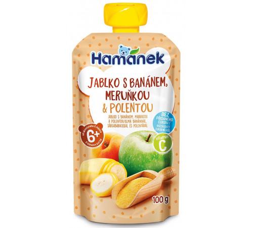 "hame piure ""hamánek"" mere-banane-caise- terci de porumb 100 gr. (6m+)"
